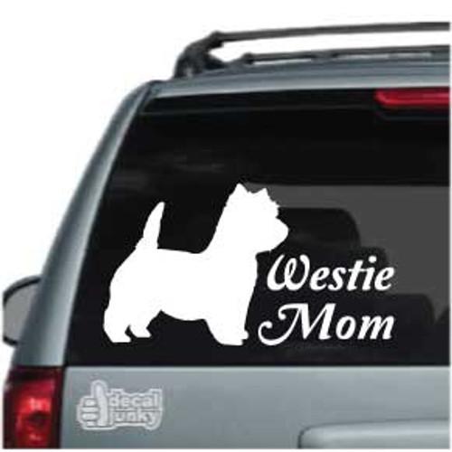Westie Mom Car Decals