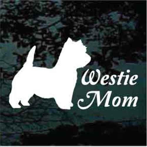 Westie Mom Window Decals