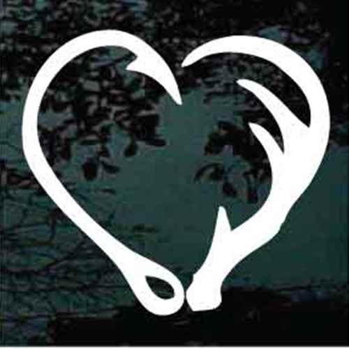 Fish Hook Deer Antler Heart