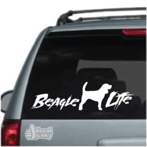 Beagle Life Car Window Decal