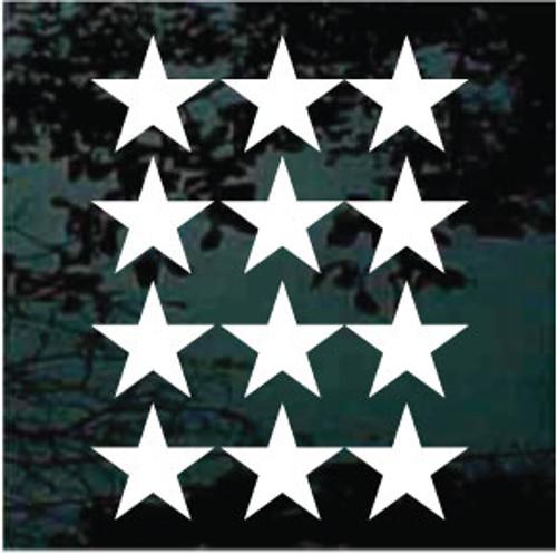 Vinyl Stars Set of 12 - 5''
