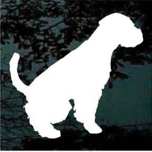 Welsh Terrier Sitting Window Decal
