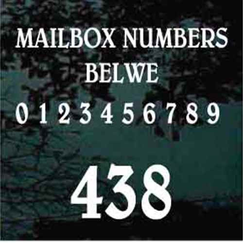 Mailbox House Numbers Belwe Font - Set of Two