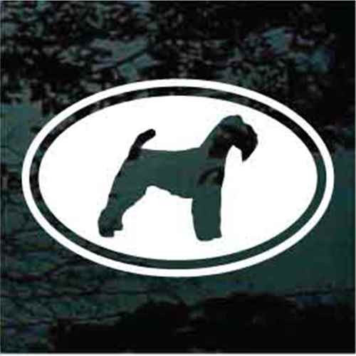Welsh Terrier Cut Out Oval Window Decal