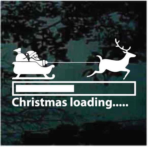 Santa Sleigh Christmas Loading Decals