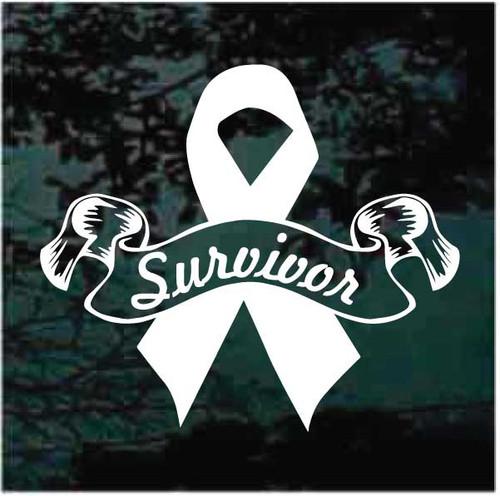 Survivor Awareness Ribbon Decals