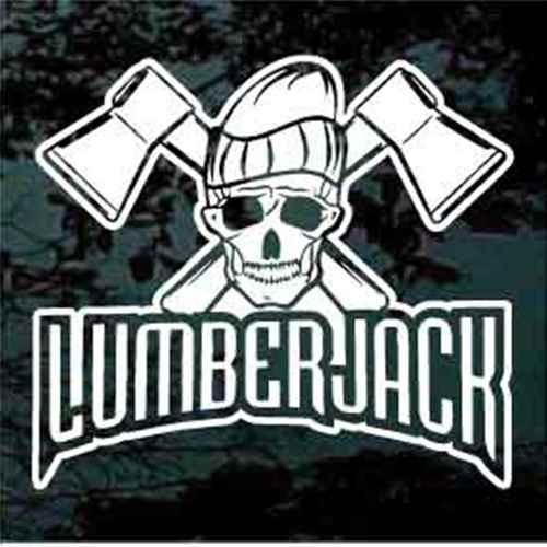Lumberjack Skull Decals