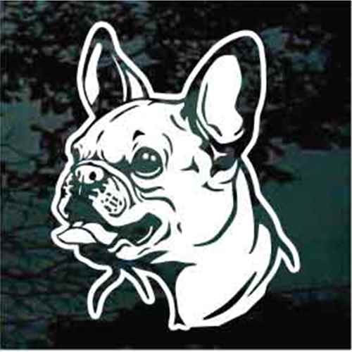 French Bulldog Detailed Head Window Decal