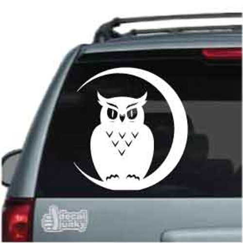 Owl On The Moon Car Window Decals