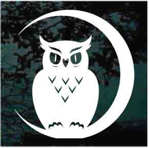 Owl On The Moon Decals