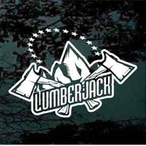 Lumberjack Logo With Stars