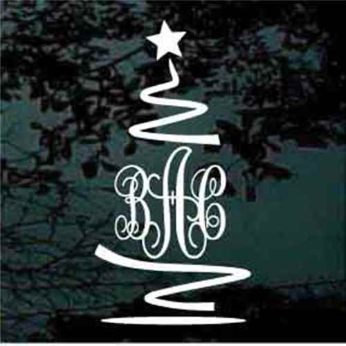 Christmas Tree Script Monogram