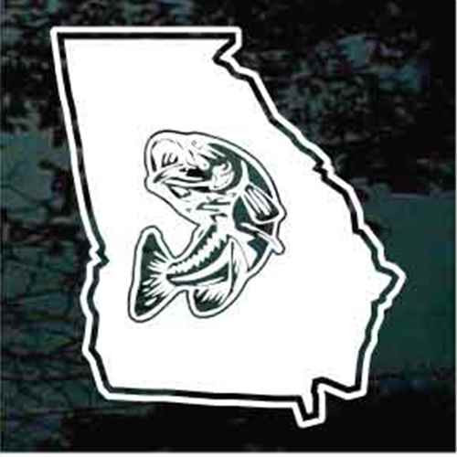 State Bass Fishing Decals