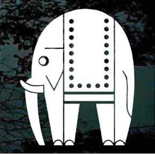 Indian Elephant Symbol Window Decals