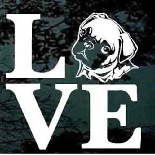 Pug Love Decals