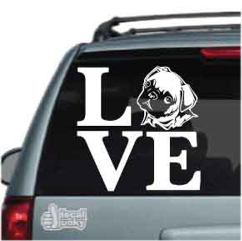 LOVE with Walking Horse Custom Vinyl Decal