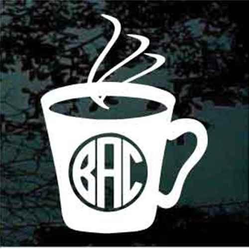 Coffee Cup Circle Monogram