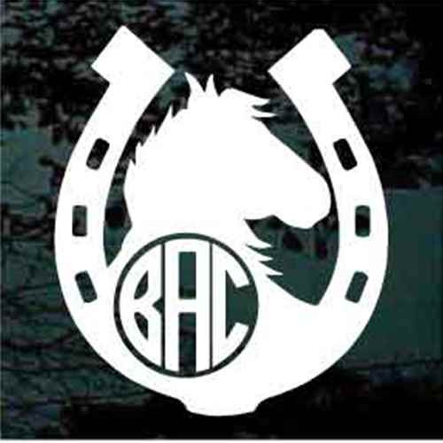 Monogrammed Horseshoe With Horse Head