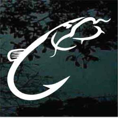 Catfish Hook Logo Window Decals