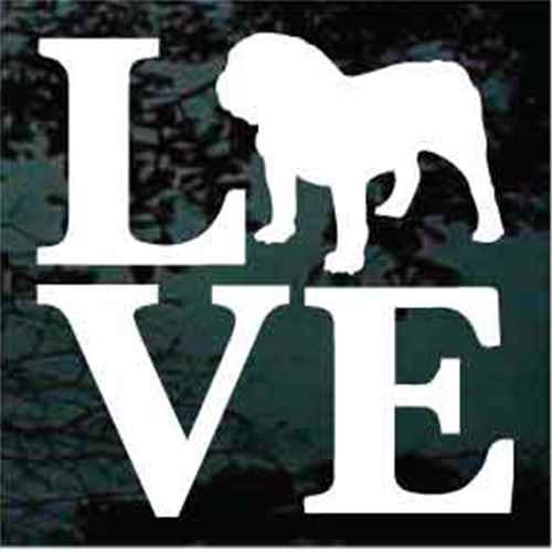 English Bulldog Love Window Decals