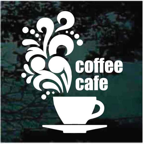 Coffee Cafe Sign Decals