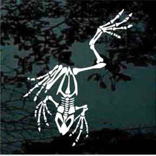 Frog Skeleton Decals