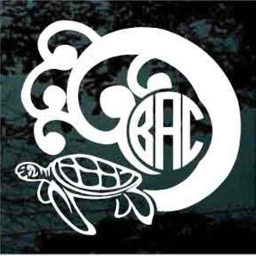 Sea Turtle Monogram Decals
