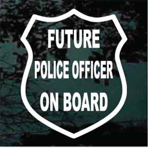 Future Police Officer On Board