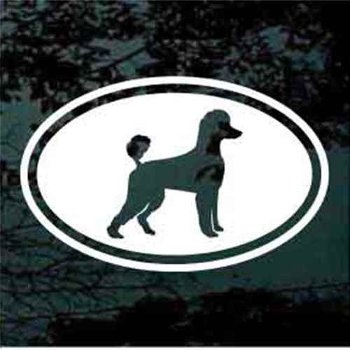 Poodle Oval Decals