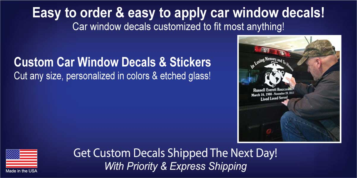 Car Window Decals & Custom Stickers