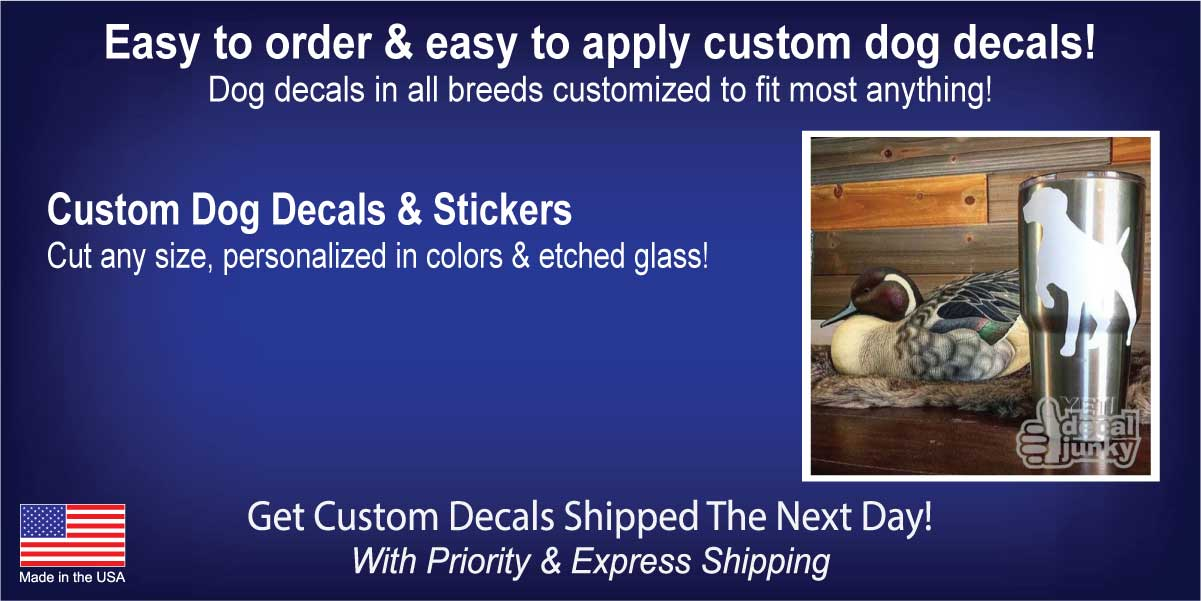 Dog Decals & Car Window Stickers