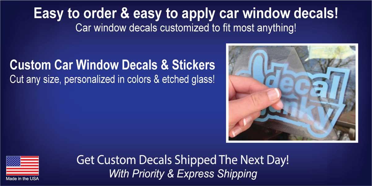Car Window Decals & Stickers