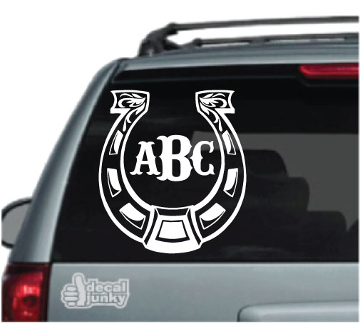 horseshoe-monogram-decals-stickers