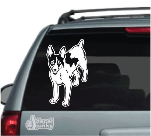 Mister Petlife Rat Terrier Sticker Vinyl Auto Window v2 rattie