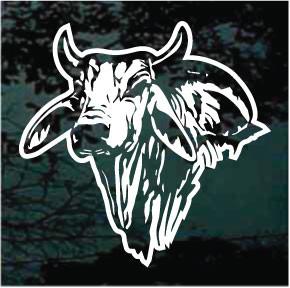 Bull Ox Head Animal Car Window Vinyl Decal Sticker
