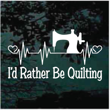 ID RATHER BE FENCING Sport Vinyl Decal Sticker C