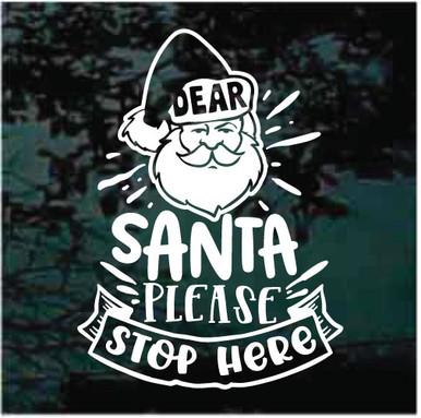 Whippit Santa Stop Here Sign