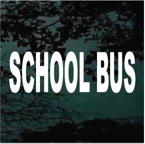 School Bus Lettering Decals Decal Junky
