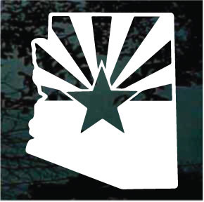 Arizona State Shaped Flag Decals Amp Stickers Decal Junky
