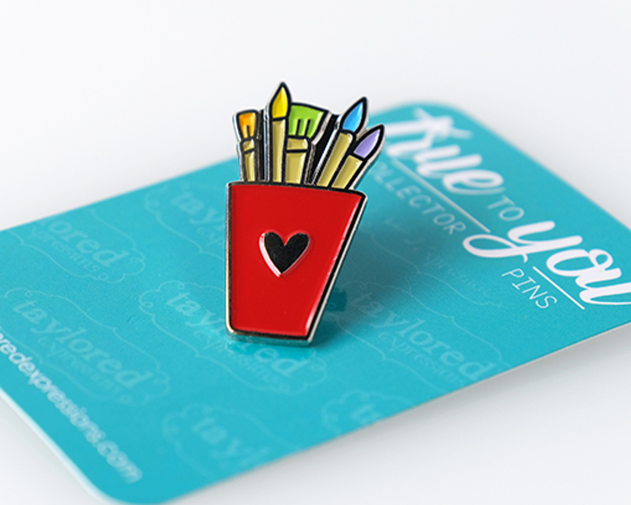 ***NEW - True to You Enamel Pin - Paintbrushes