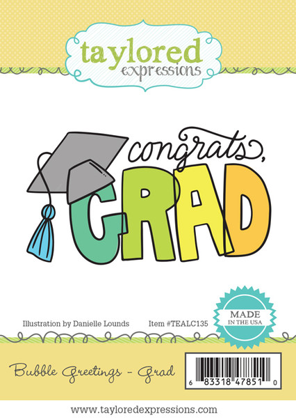 Taylored Expressions Bubble Greetings Grad