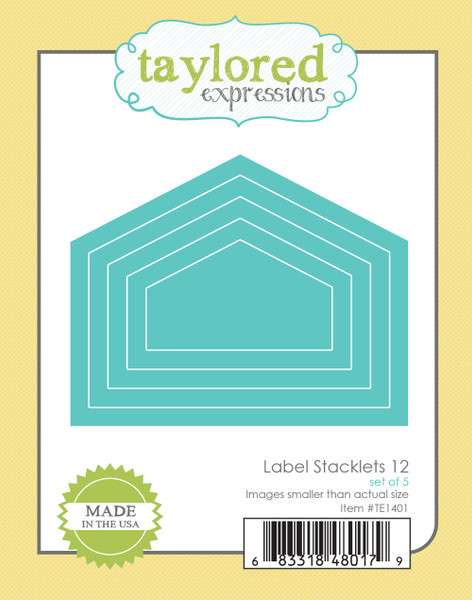 Taylored Expressions Label Stacklets 12 Die Set