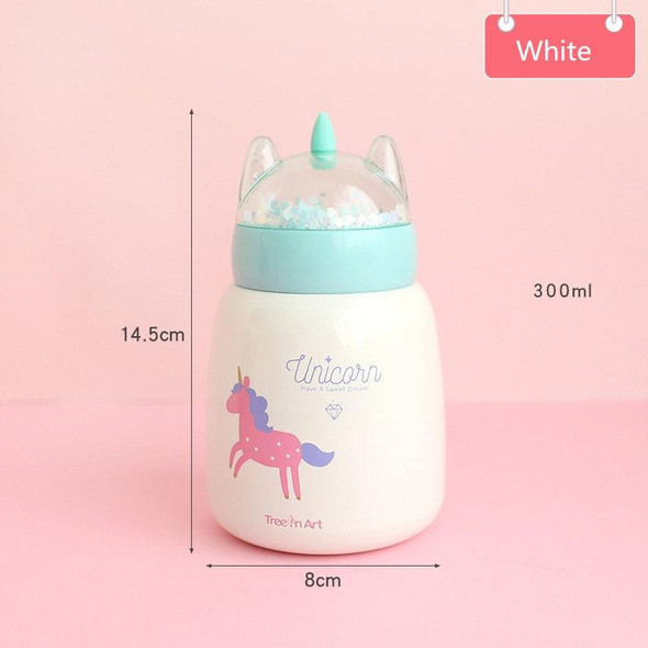 300ML Unicorn Thermos Bottle with Glitter Lid