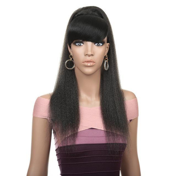 """24"""" Synthetic Ponytail With Hair Bang Extensions Straight Hairpiece Ponytail"""