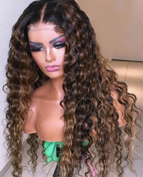 180 Density HD Transparent Lace Wig Water Wave 13x6 Lace Front Human Hair Wigs Remy