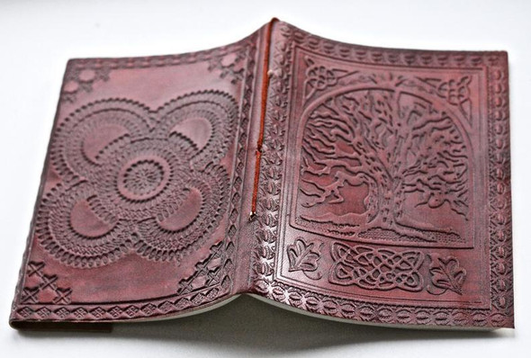 Tree of Life Brown Leather Journal