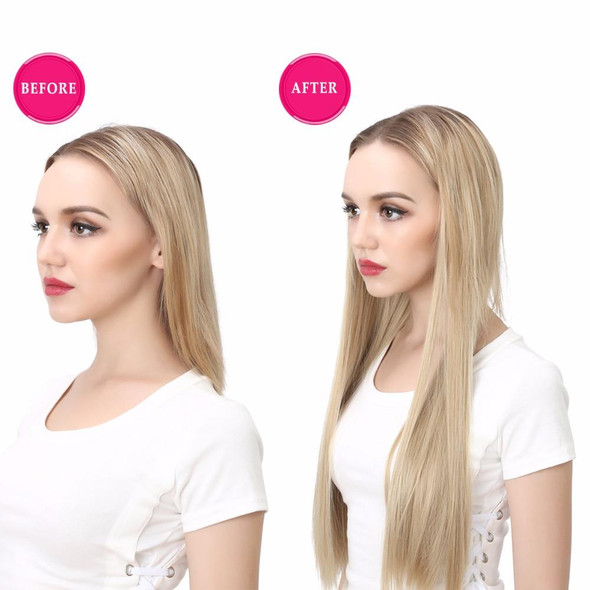 """24"""" 170g U-Part  One Piece Clip On Hair Extensions Straight & Wavy Ombre Full Head Long Natural Synthetic Hairpieces"""