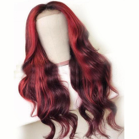 Lace Front Red 99J Burgundy Human Hair Wigs
