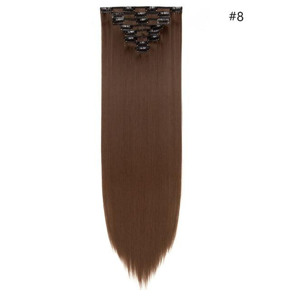 26inch 8pcs/set clip in hair extensions straight natural hair synthetic