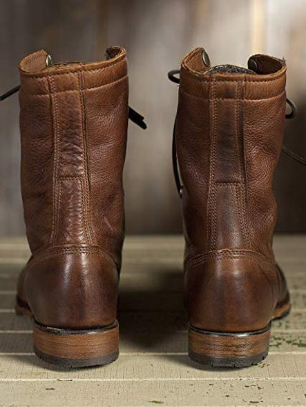 Fashion Ankle Martin Low-heel Boots Shoes